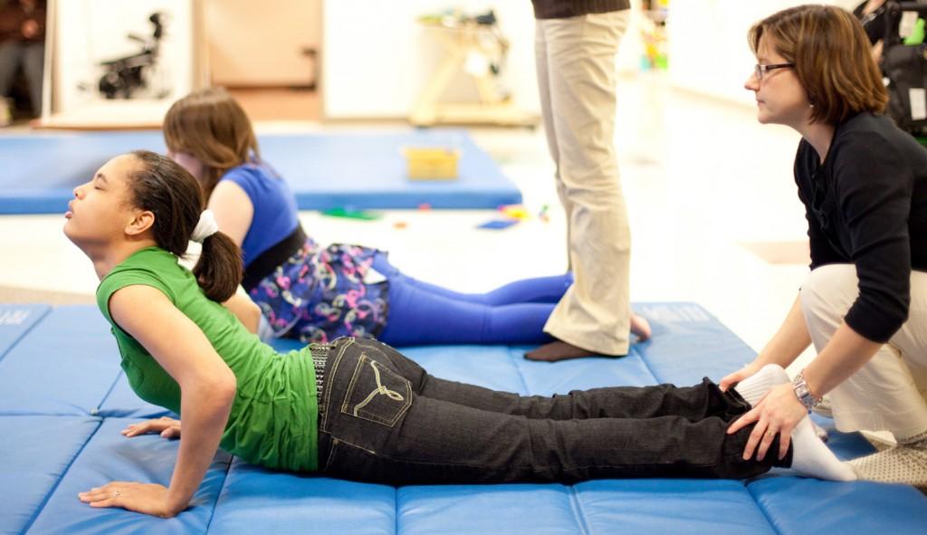 clients doing yoga